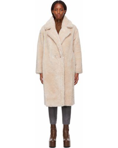 Белое пальто макси Yves Salomon Meteo