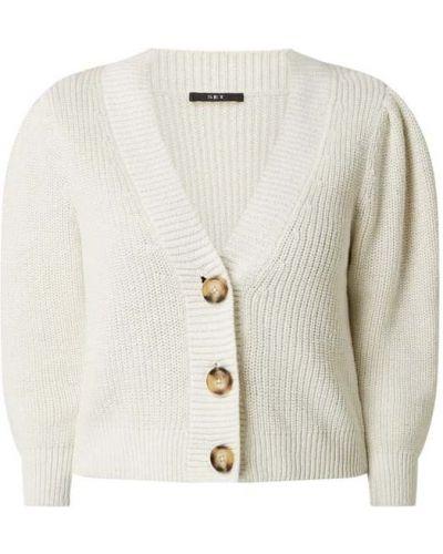 Prążkowany biały kardigan bawełniany Set