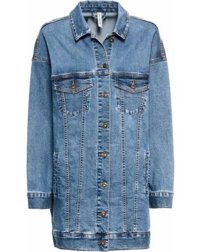 Джинсовая куртка оверсайз синий Bonprix
