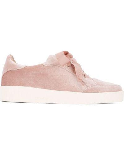 Кроссовки розовый бархатные Senso