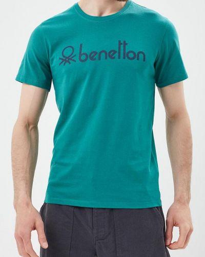 Зеленая футболка для футбола United Colors Of Benetton