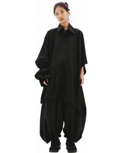 Рубашка удлиненная - черная Yohji Yamamoto