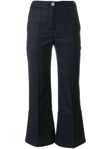 Укороченные брюки расклешенные с карманами Eudon Choi