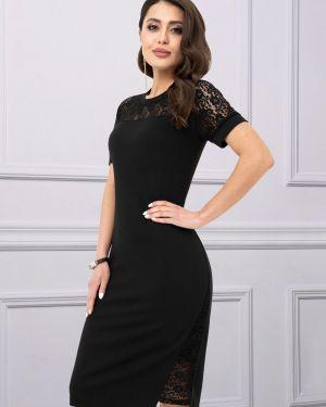 Вечернее кружевное с рукавами вечернее платье с вырезом Charutti