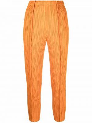 Укороченные брюки - оранжевые Pleats Please Issey Miyake