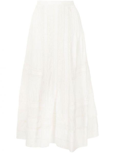Юбка миди с завышенной талией - белая Polo Ralph Lauren