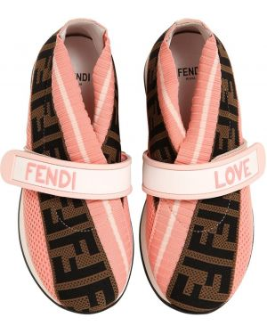 Sneakersy skórzany Fendi
