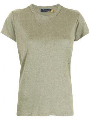 Зеленая футболка с короткими рукавами Polo Ralph Lauren