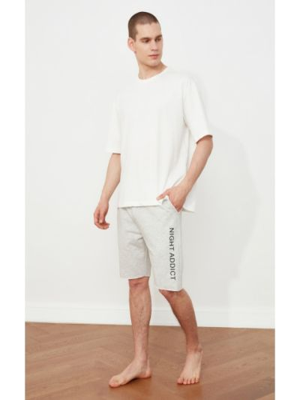 Biała piżama bawełniana Trendyol