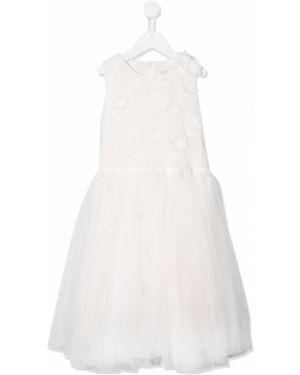 Biała sukienka rozkloszowana tiulowa Aletta