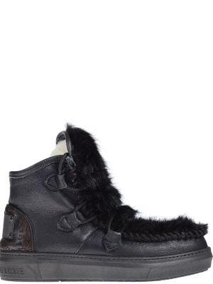 Кожаные ботинки - черные Karma Of Charme