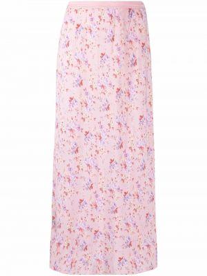Розовая шелковая юбка Loveshackfancy