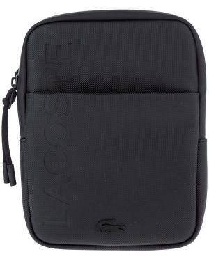 Мерцающая черная сумка через плечо Lacoste