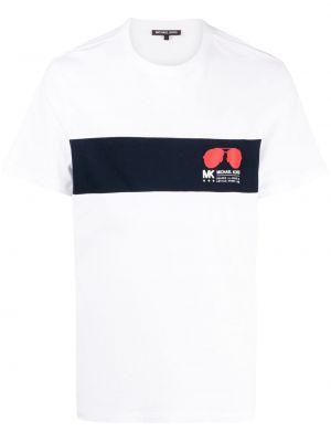 T-shirt z printem - białe Michael Kors