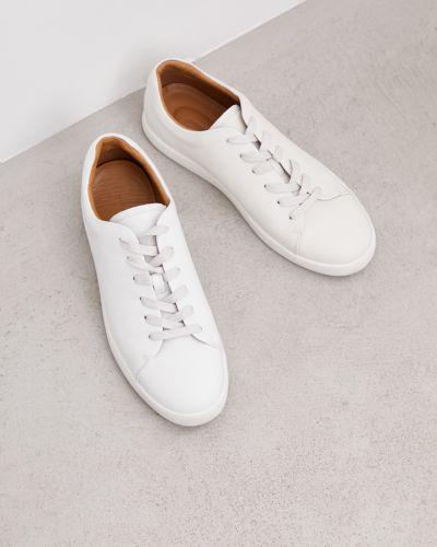 Мягкие кожаные белые кеды 12storeez