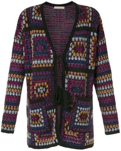 Фиолетовое длинное пальто Cecilia Prado