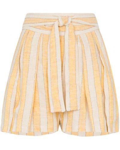 Желтые шорты с карманами Three Graces