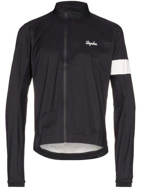 Czarna kurtka w paski z nylonu Rapha