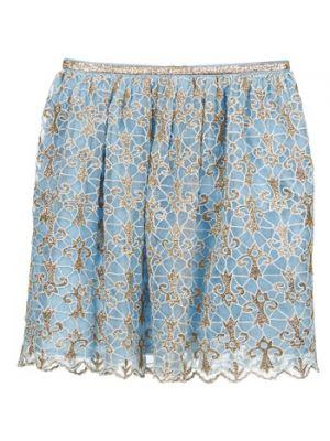 Niebieska spódnica mini Manoush