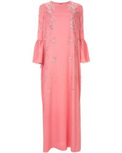 Платье с пайетками с длинными рукавами Rami Al Ali