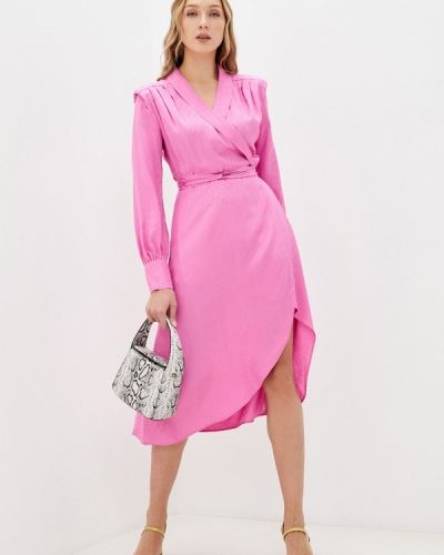 Розовое платье с запахом Twist & Tango
