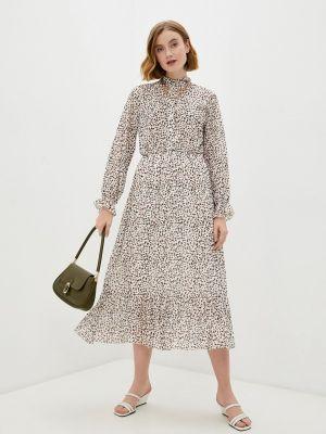 Бежевое платье рубашка Bruebeck