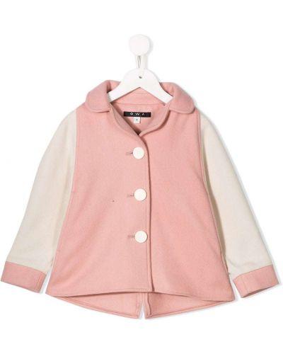 Розовое длинное пальто Owa Yurika