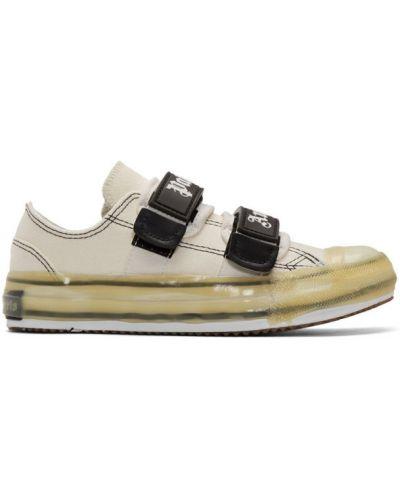 Brezentowy biały sneakersy z łatami rzep Palm Angels
