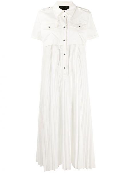 Классическое плиссированное платье миди с воротником с короткими рукавами Mr & Mrs Italy
