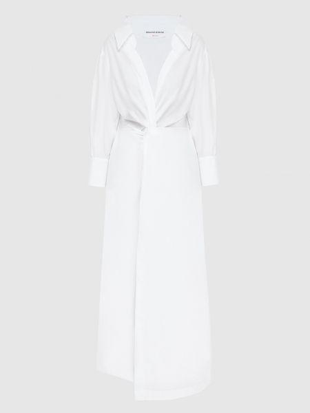 Белое платье миди Ermanno Scervino
