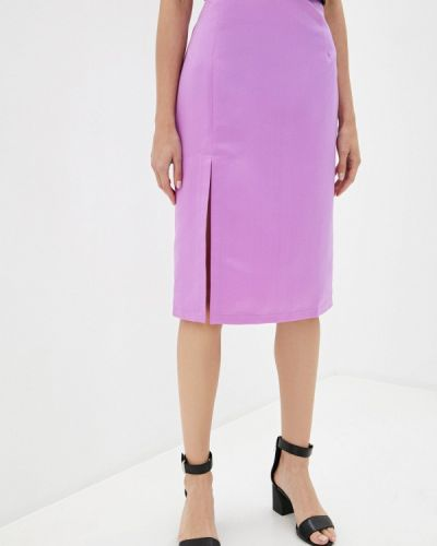 Фиолетовая прямая юбка карандаш Trendyangel