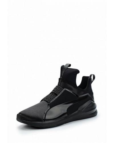 Черные высокие кроссовки Puma