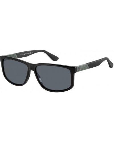 Etui na okulary z printem - czarne Tommy Hilfiger