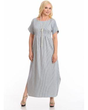 Летнее платье с запахом с разрезами по бокам со складками с короткими рукавами Merlis