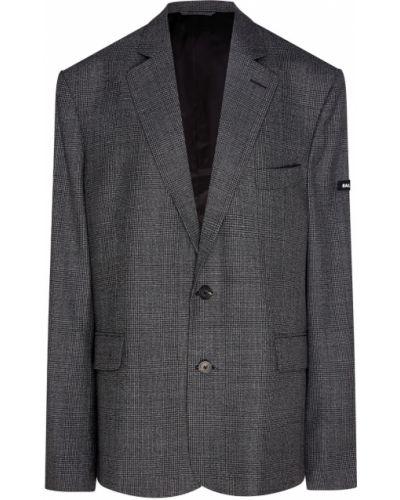 Классический пиджак черный серый Balenciaga