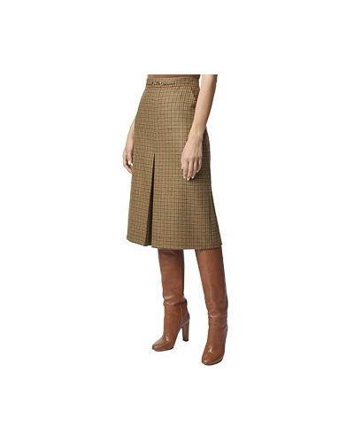 Зеленая юбка миди Luisa Spagnoli