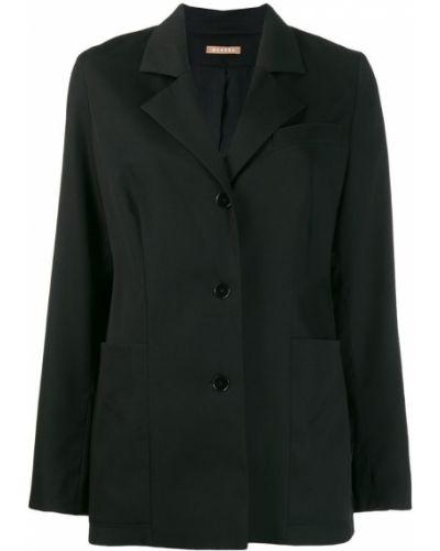 Длинная куртка черная на пуговицах Nehera