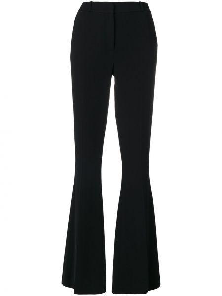 Czarne spodnie z paskiem z wiskozy Capucci