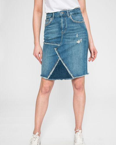 Джинсовая юбка на пуговицах карандаш Liu Jo