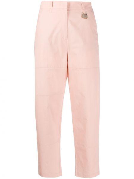 Spodnie z wysokim stanem elastyczne z paskiem Pinko