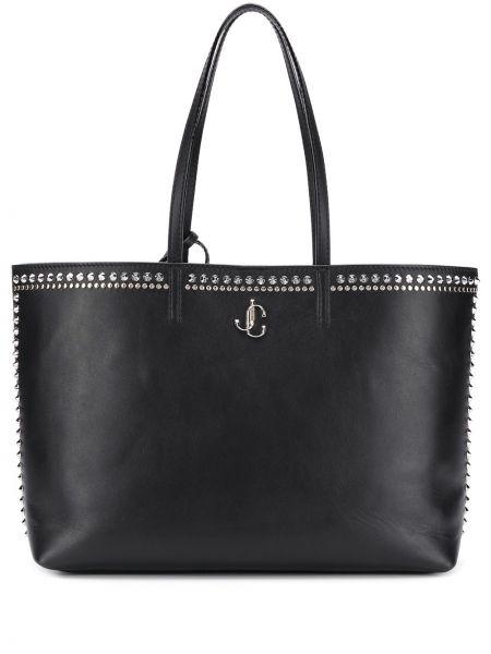 Skórzana torebka na ramię czarna Jimmy Choo