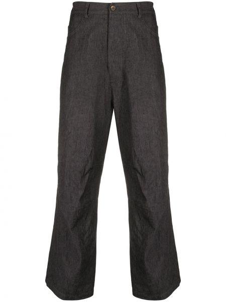 Прямые брюки пэчворк на пуговицах с карманами новогодние Forme D'expression