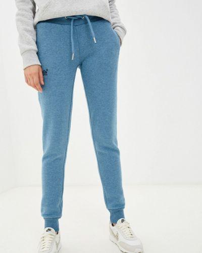 Голубые спортивные брюки Superdry