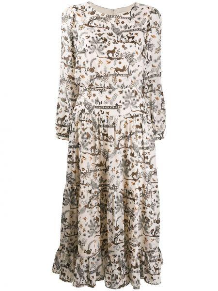 Платье миди макси шелковое Saloni