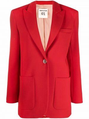 Шерстяной пиджак - красный Semicouture