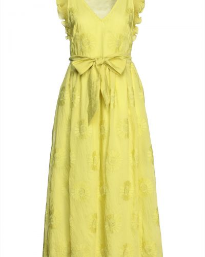 Платье миди на крючках из органзы с вышивкой Kate Spade New York