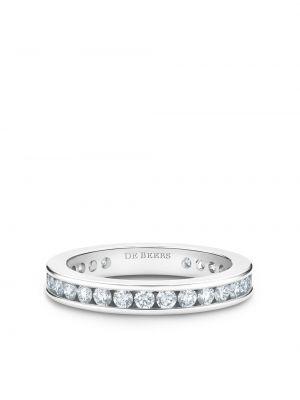 Кольцо с бриллиантом - серебряное De Beers