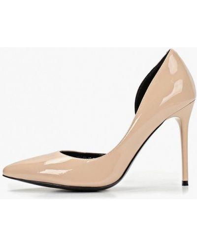 Туфли на каблуке кожаные с открытой стопой Calipso