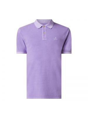 T-shirt bawełniana - fioletowa Gant