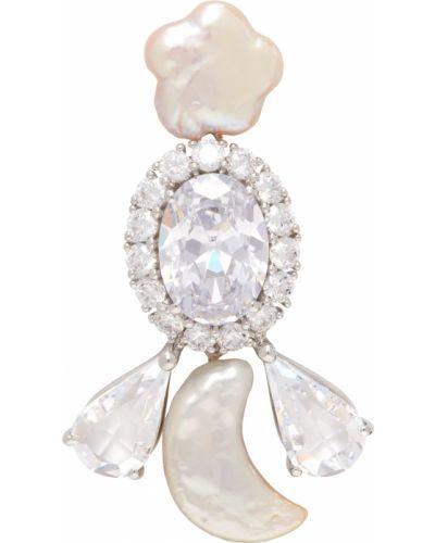 Kolczyki srebrne perły Shushu/tong